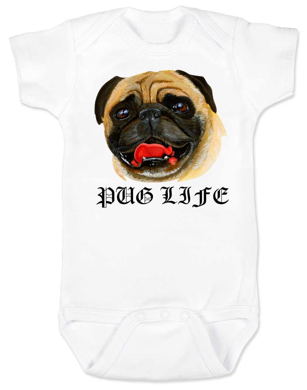 5a59441b4 Pug Life baby Bodysuit Pug Love Bodysuit Pug Bodysuit personalized dog  lover Bodysuit unique baby shower
