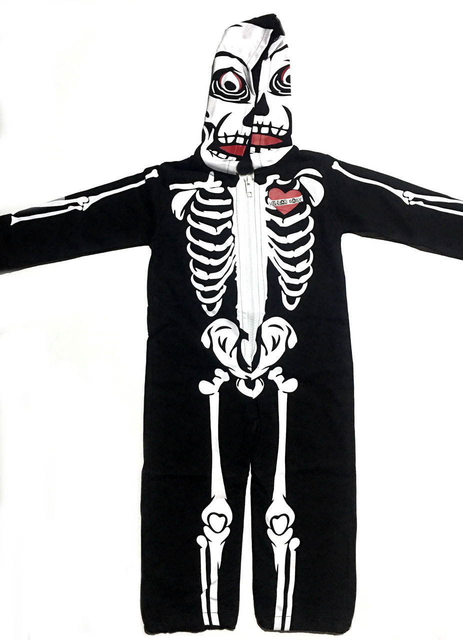 Skeleton Outfit Halloween.Skeleton Hooded Jumpsuit