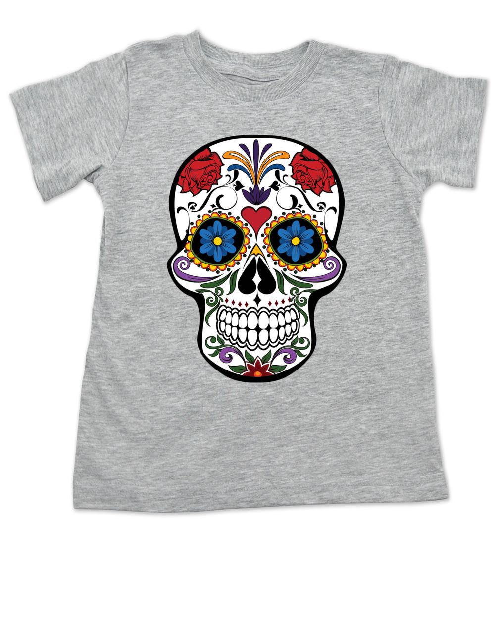 6d1d91cfc Dia de los Muertos toddler shirt, colorful sugar skull t-shirt, Day of