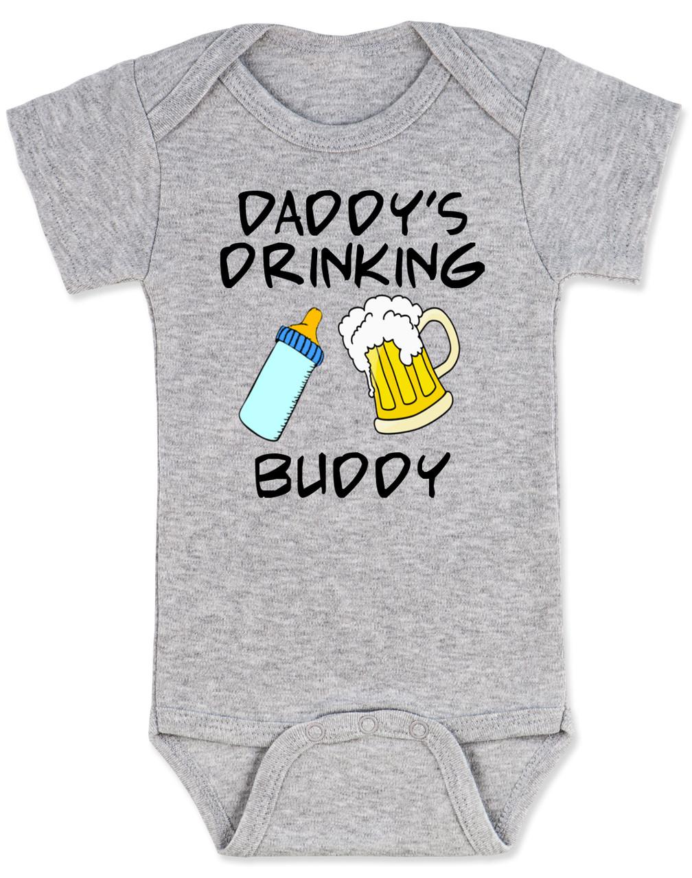 Daddy/'s Drinking Buddy Baby Boy Onesie Drinking Onesie Milk Drunk Little Man Onesie But First Milk