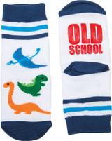 Old School toddler socks, gamago socks, funny toddler socks, cool socks for toddlers, socks for cool kids, funny socks for babies, funny toddler birthday gift, best add on baby shower gift, cool gift for new parents, Novelty baby gift, Dinosaur toddler grippy socks
