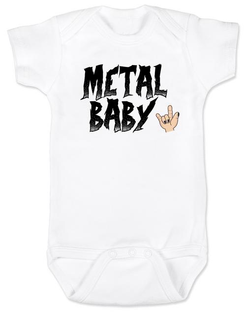 Metal Baby Bodysuit, Badass baby shower gift, Punk Rock Baby, Heavy Metal Baby personalized onsie