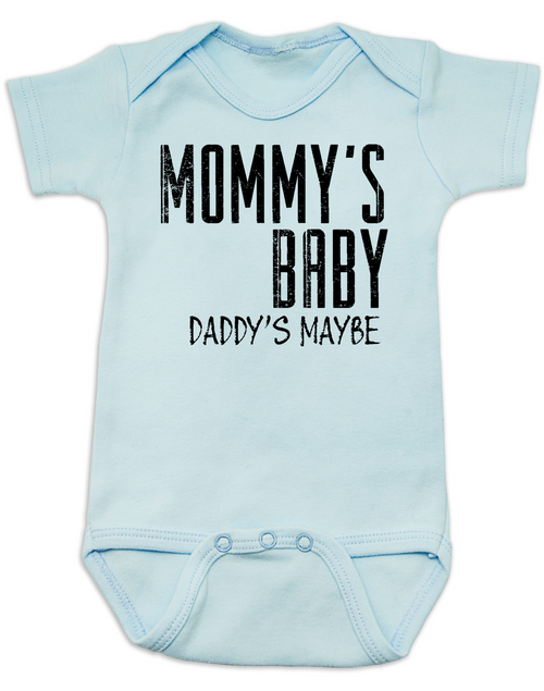 7580aac85 ... Mommy's Baby, Daddy's maybe, Redneck Baby Bodysuit, Funny Baby Shower, Baby  Shower ...