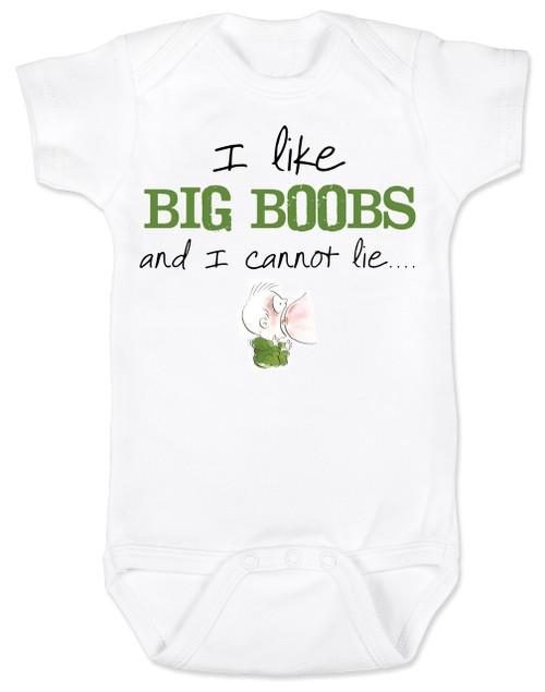 I like big boobs BodysuitFunny Baby ShowerBaby Shower Gag Giftsunique baby shower giftsbadass baby clothesinappropriate baby Bodysuitsbaby Bodysuits with funny sayingsFunny baby clothes