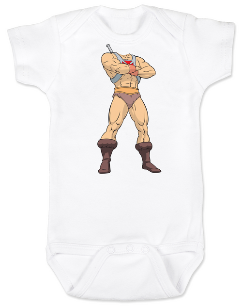 He-Man Baby Bodysuit, Master of the Universe, Classic Cartoon, Little Bodies onsie