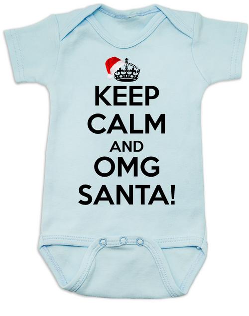 Keep Calm Omg Santa Baby Bodysuit