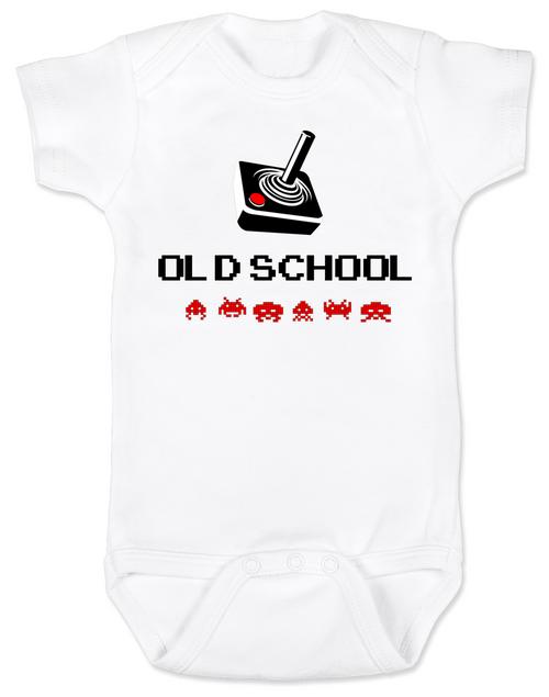Old School Baby Bodysuit, Gamer kid, Geeky Gamer Onsie, Video Game infant bodysuit, 80's Baby, retro gaming, joystick controller Bodysuit