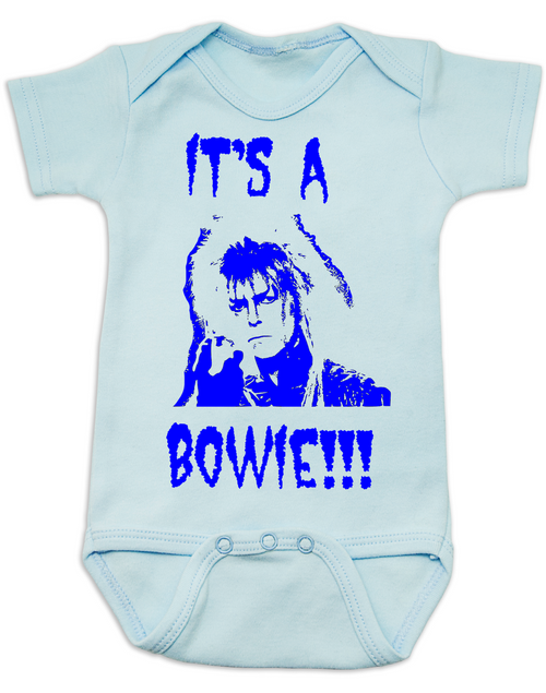 6cdae174f ... It's a Bowie, david bowie baby Bodysuit, gender reveal Bodysuit, it's a  boy
