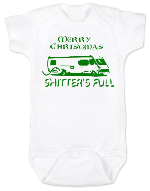 Shitter's full baby Bodysuit, Christmas Vacation movie baby clothes, funny christmas Bodysuit, funny christmas baby clothes, funny holiday baby Bodysuit