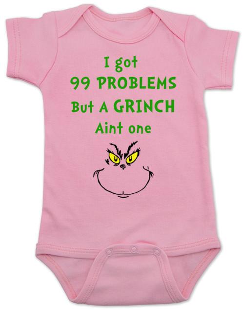 Grinch Problems Baby Bodysuit