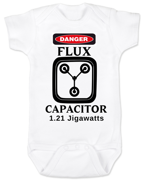 680176f2c Back to the future baby Bodysuit, Flux Capacitor baby onsie, Marty Mcfly,  Classic