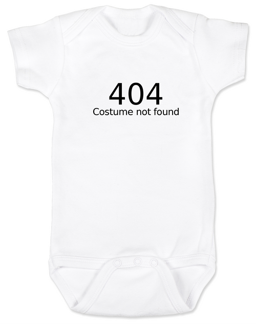 82d66b3d7 404 error costume not found baby Bodysuit, child 404 costume not found,  computer error ...