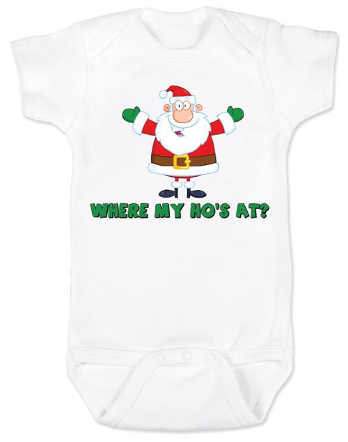 Where My Ho S At Santa Baby Bodysuit