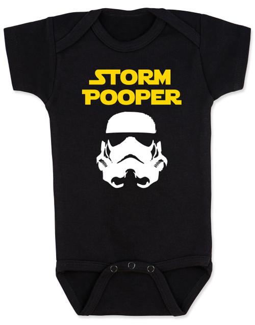 Star Wars Storm Pooper Baby Bodysuit, black