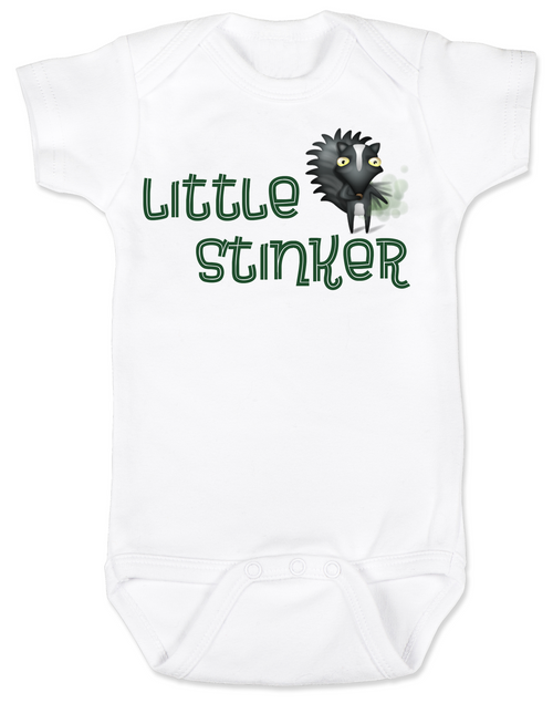 Little Stinker Baby Bodysuit, Stinky baby onsie, skunk