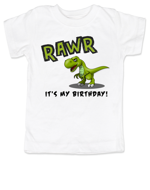 T-rex Rawr It's My Birthday Toddler Shirt, dinosaur, Trex, custom birthday t-shirt, personalized