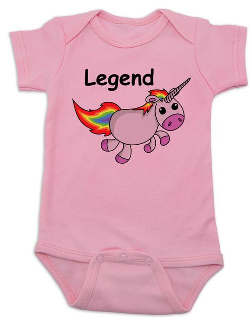 3e118d4ba4 ... Unicorn Legend Baby Bodysuit, rainbow unicorn onsie, pink