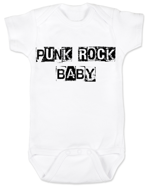 Punk Rock Baby Bodysuit, hardcore baby, rock and roll, punk baby onsie
