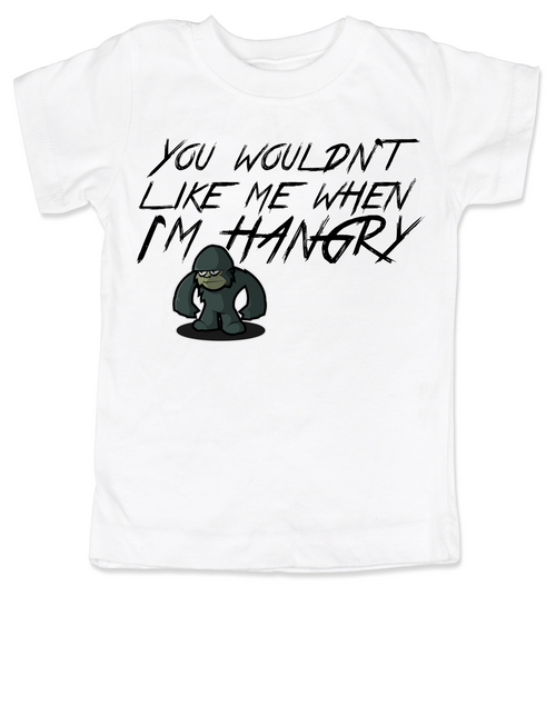 Hangry toddler shirt, You wouldn't like me when I'm hangry toddler t-shirt, Hungry kid, feed me now