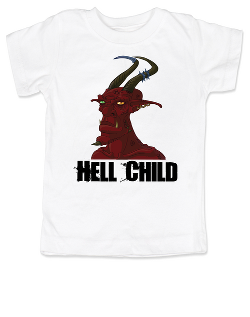 Hell Child toddler shirt, Wild Child, crazy kid, Little Rebel, demon spawn, devil kid