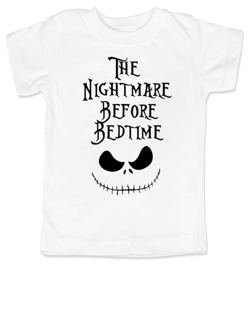 Nightmare before bedtime toddler shirt, nightmare before christmas, jack the pumpkin king