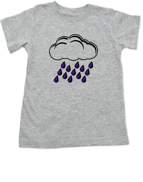 prince toddler shirt, purple rain toddler shirt, Rain cloud with purple rain shirt, Cute Prince kid shirt, Cute purple rain kid t-shirt, grey