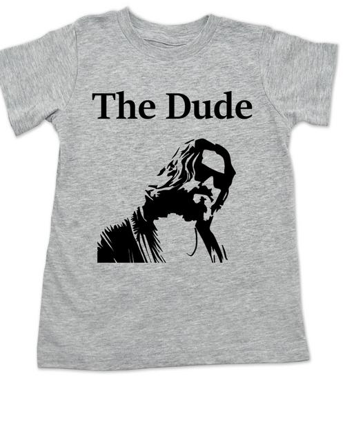 The Dude toddler shirt, The Big Lebowski Movie toddler t-shirt, grey