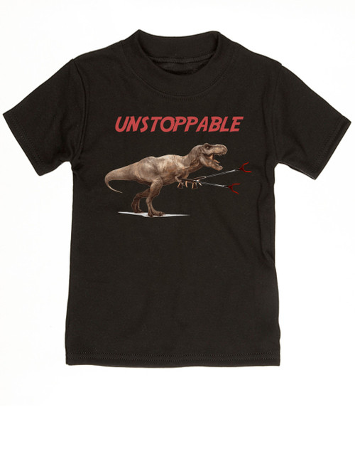 80c3ebb6 Unstoppable T-Rex dinosaur toddler shirt, T-Rex with grabbers, unstoppable  trex ...