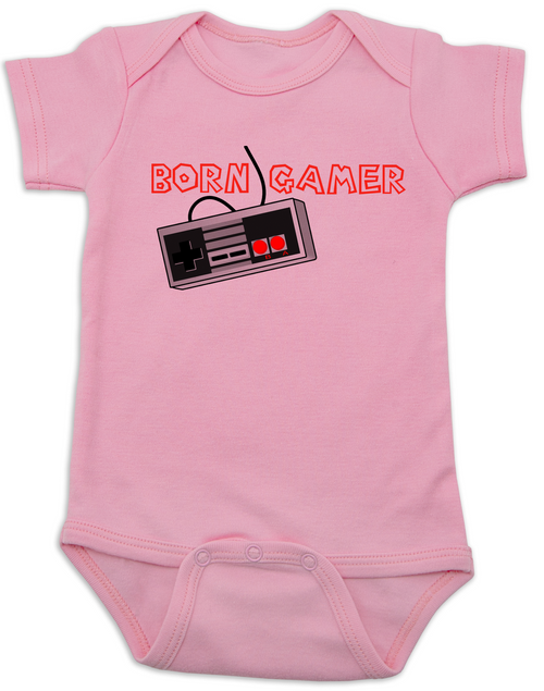 dfa1e878e ... Born Gamer Baby Bodysuit, Video Game onsie, nintendo baby Bodysuit,  classic gamer infant