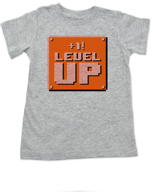 1 UP Toddler Shirt Personalized Birthday Geeky Kid