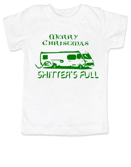 Shitter's full toddler shirt, Christmas Vacation movie toddler t-shirt, Shitter's Full Clark, Funny Christmas Toddler Shirt, Funny Christmas movie kid shirt, white