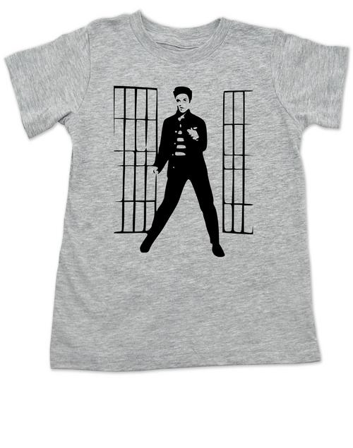 Elvis Presley jailhouse rock, Jailhouse Rock toddler shirt, elvis kid shirt, classic rock and roll toddler shirt, Elvis dancing toddler t-shirt, grey shirt