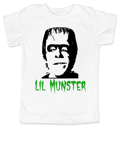 Lil Munster toddler shirt, The Munsters Halloween shirt, Herman Munster toddler shirt, cool monster toddler halloween shirt