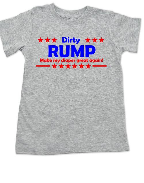 Donald Trump, Political toddler shirt, Make my diaper great again, Make America Great Again, 2016 Election toddler t-shirt, Politics, Future Republican, grey