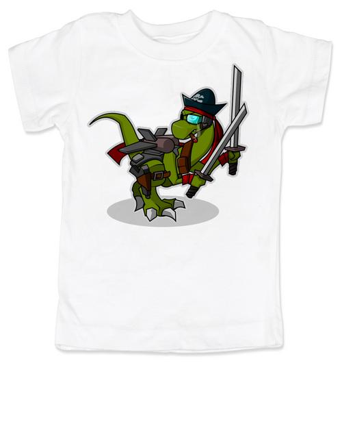 Samurai Pirate Trex toddler shirt, Ninja dinosaur toddler shirt, Pirate T-Rex kid shirt, Cool Trex toddler shirt, badass dinosaur kid shirt, Pirate Ninja Dinosaur