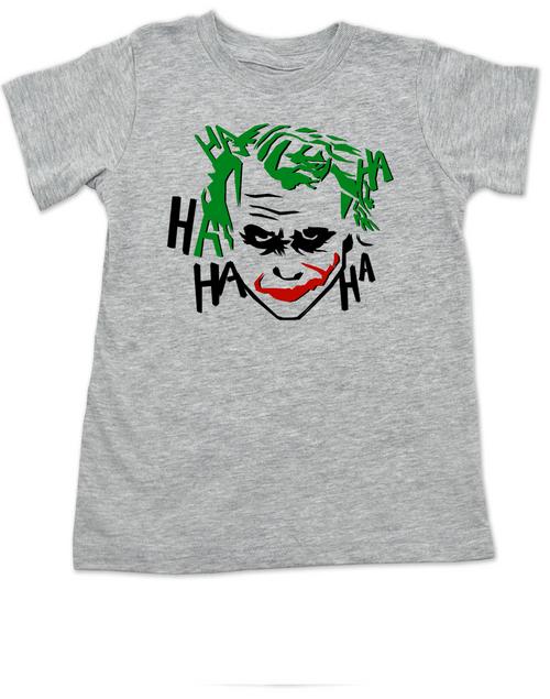 The Joker toddler shirt, Joker Halloween toddler t-shirt, batman joker toddler shirt, batman villain toddler shirt, grey