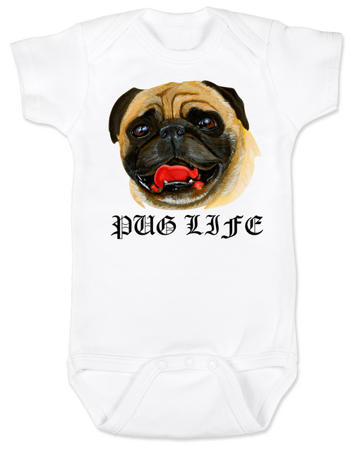 Pug Life baby Bodysuit