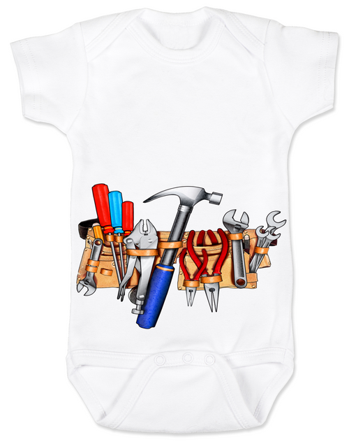 Tool Belt baby Bodysuit whiteTools baby BodysuitTools Bodysuit