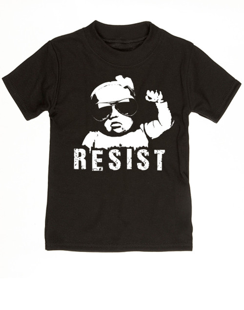 Resist toddler shirt, protest toddler shirt, protest toddler shirt, , funny political baby clothes, baby protester, anti-trump baby gift, black