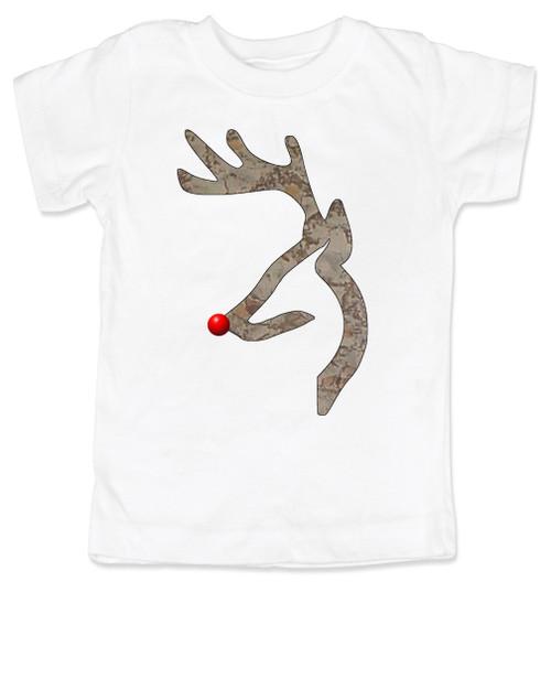 John Deer reindeer, browning kids shirt, funny christmas kid shirt,  badass christmas toddler tshirt, white
