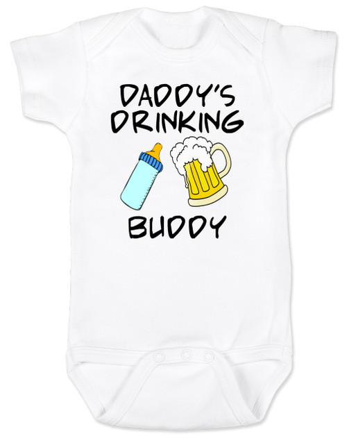 Daddy's drinking buddy, Drinking buddies father and child, Dad's drinking buddy baby Bodysuit, beer and baby bottle, Dad's best friend, drinking with daddy, daddy drinking buddy baby onsie, baby gift for beer drinking parents, funny beer baby Bodysuit