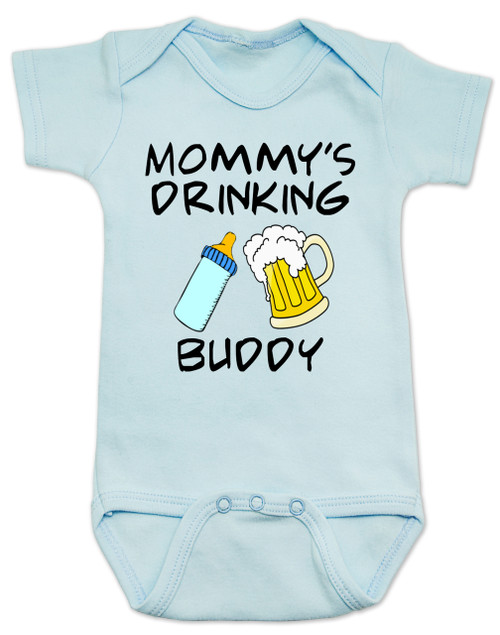 8d528fb9f ... Mommy's drinking buddy, Drinking buddies Mother and child, Mom's drinking  buddy baby Bodysuit, ...