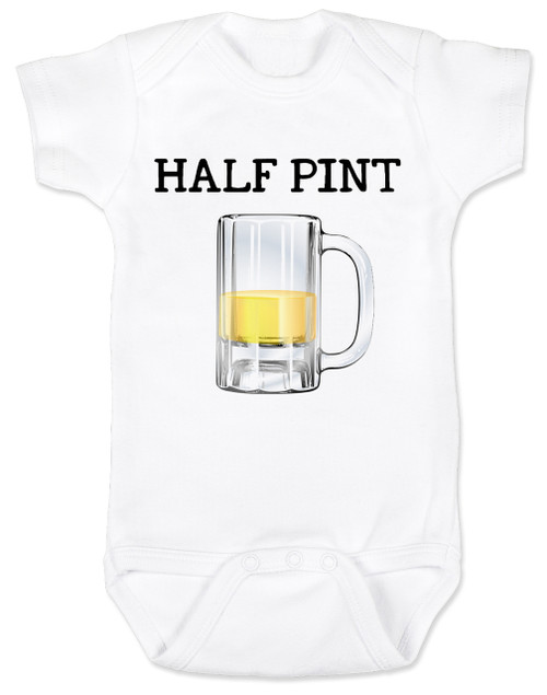 Half Pint Baby Bodysuit, Daddy's drinking buddy, Mommy's Drinking buddy, Beer baby bodysuit, drinking with daddy, Beer mug baby onsie, baby gift for beer drinking parents, funny beer baby Bodysuit, baby present for beer lovers