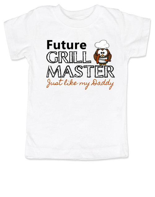 Future Grill Master toddler shirt, grill master like daddy kid shirt, future cook like mom and dad, personalized toddler shirt for parents who love to cook, grill master like daddy