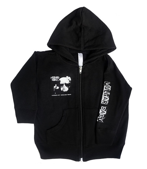 Vulgar Baby Hoodie, Vulgar Baby brand, Vulgar Baby logo jacket, Cool baby hoodie, cool toddler hoodie, badass baby