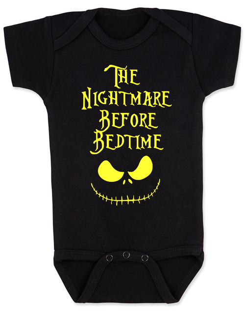 nightmare before bedtime baby bodysuit