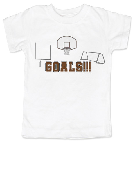 Goals toddler shirt, sports themed toddler gift, funny sports kid shirt, punny sports kids, Goals with goals, sports goals toddler tshirt, basketball toddler gift, Soccer toddler gift, Football toddler gift, gift for parents who love sports