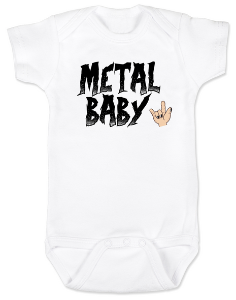 Metal Baby Bodysuit, Badass baby shower gift, Punk Rock Baby, Heavy Metal Baby personalized onsie