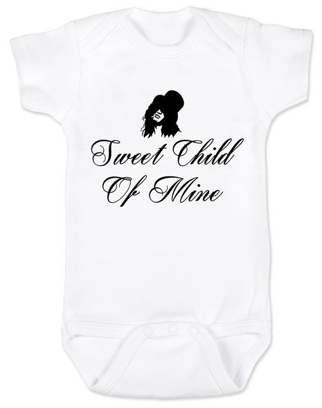 Slash, Sweet Child of Mine baby Bodysuit, guns and roses band onsie