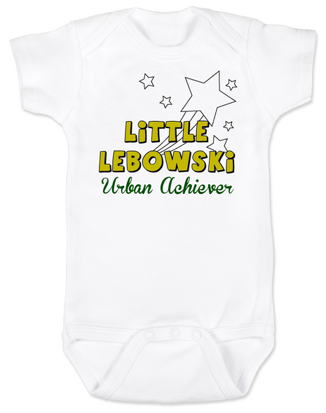 Little Lebowski Urban Achiever, Little Dude baby Bodysuit, Big Lebowski baby Bodysuit, Fuck it dude let's go bowling, The Big Lebowski baby Bodysuit, The Dude infant bodysuit